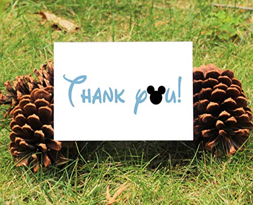 Set of 10 Mickey Mouse Thank You Cards With Envelopes For Baby Shower, Birthday, etc. - 2 DESIGNS TO CHOOSE FROM!!!
