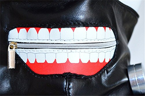 MACTING Tokyo Ghoul Kaneki Ken Cosplay Mask Halloween Party Cool Mask Prop Zipper Black, Free