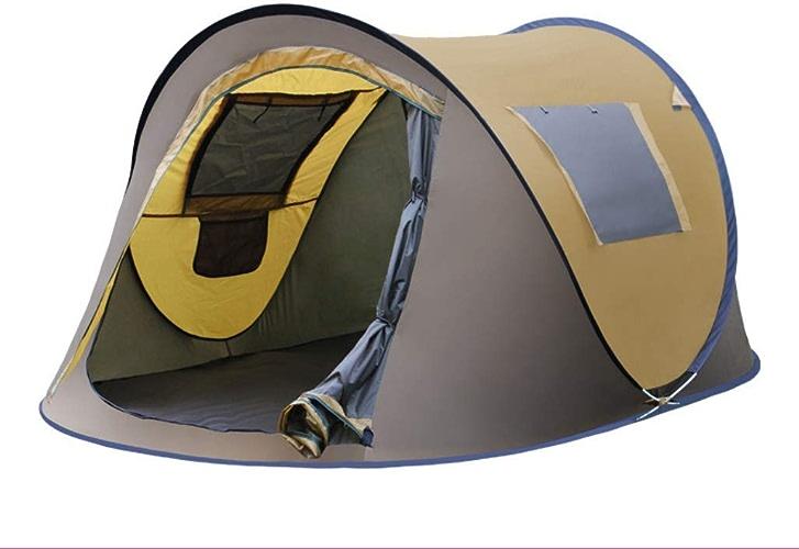 CCLAY Tente escamotable de Camping en Plein air pour tentes à Ouverture Rapide étanches, auvent pour 2-4 Personnes avec Sac de Transport