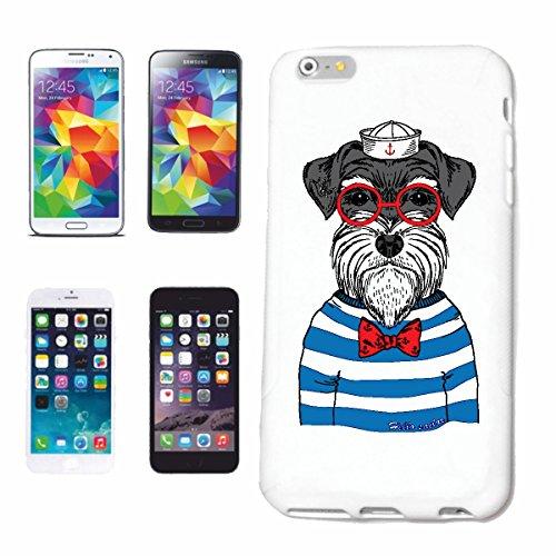 Reifen-Markt Hard Cover - Funda para teléfono móvil Compatible con Samsung Galaxy S8+ Plus Divertida MALTÉS Cairn Terrier como Marinero con Gafas Haushund West Hig