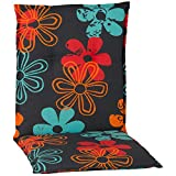 nxtbuy Gartenstuhl-Auflage Barcelona 100x50 cm Prilblume 6er Set - Niedriglehnerauflage für Gartenstühle - Stuhlauflage mit Komfortschaumkern - Made in EU / ÖkoTex100