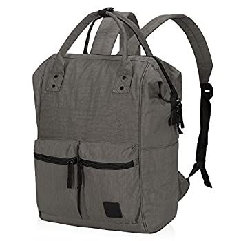 Veegul Wide Open Multipurpose Travel Backpack Lightweight Casual Daypack With Laptop Compartment Gray