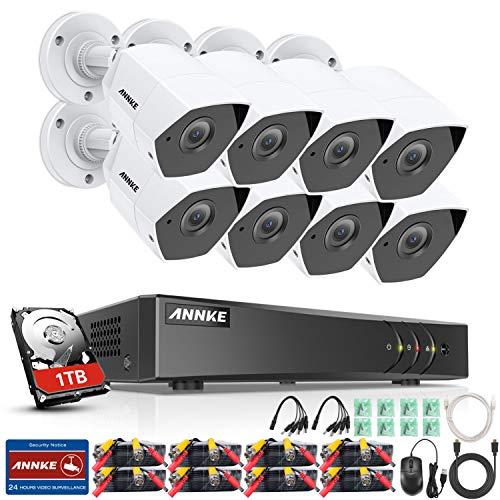 ANNKE Kit Videosorveglianza Telecamera DVR 3MP TVI 8 Canali 8 Metal Telecamera Videosorveglianza Esterno Email Allarme Manuale Italiano Motion Detection Visione Notturna 1TB HDD