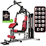 Sportstech unique 45in1 Premium Gym HGX100/HGX200 for countless training variations. Multifunctional home gym with Lat pulling tower,fitness station EVA made material-sturdy construction - Multi Gym