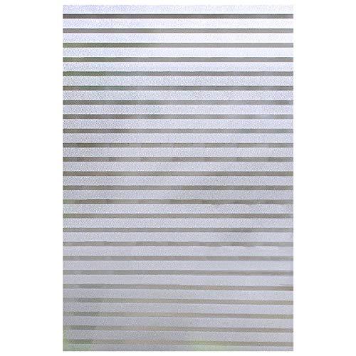 EASEHOME Selbstklebende Fensterschutzfolie Sichtschutzfolie Milchglasfolie, Fensterfolie Statisch Fenster Folie UV-Schutz Klebefolie Dekorfolie 17.3