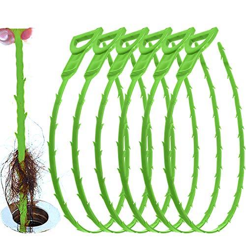 YOLETO Nettoyeurs pour Drain Outils, Vidange Hair Remover Clog, Furet Déboucheurs de 50 cm de long, 6 Pièces Égoutter Équipement