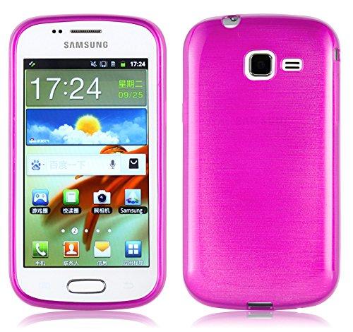 Cadorabo Custodia per Samsung Galaxy Trend in Hot Pink – Morbida Cover Protettiva Sottile di Silicone TPU con Bordo Protezione – Ultra Slim Case Antiurto Gel Back Bumper Guscio