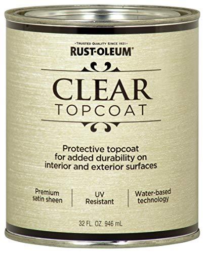 Rust-Oleum 253613 Metallic Accents Paint, Quart, Satin Clear