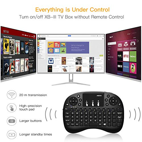 Android 7.1 TV Box, GooBang Doo XB-III Android TV Box with 2GB RAM 16GB ROM Amlogic Quad Core A53 Processor 64 Bits 4K Playing, Bluetooth 4.0, with Mini Keyboard