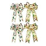 Arco de Navidad 4pcs cinta de navidad arcos de navidad caja de caramelo regalo regalo de regalo nudos de cinta for cumpleaños navidad baby baby shower for fiesta de vacaciones Arca los colores tradici