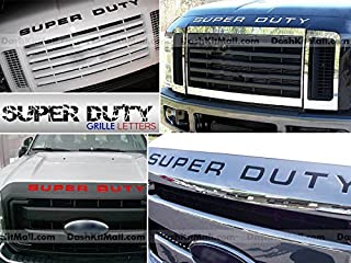 SF Sales USA - Black Letters Super Duty 2008-2016 Hood/Grille Inserts Not Decals