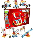 STEM based construction model toy set for 5 years and above. Enhances Knowledge, Dexterity, Creativity, Improves observation, Reasoning, Logical & Problem-solving Skills in children. Step by Step Guide Manual to create different Models Build rebuild ...