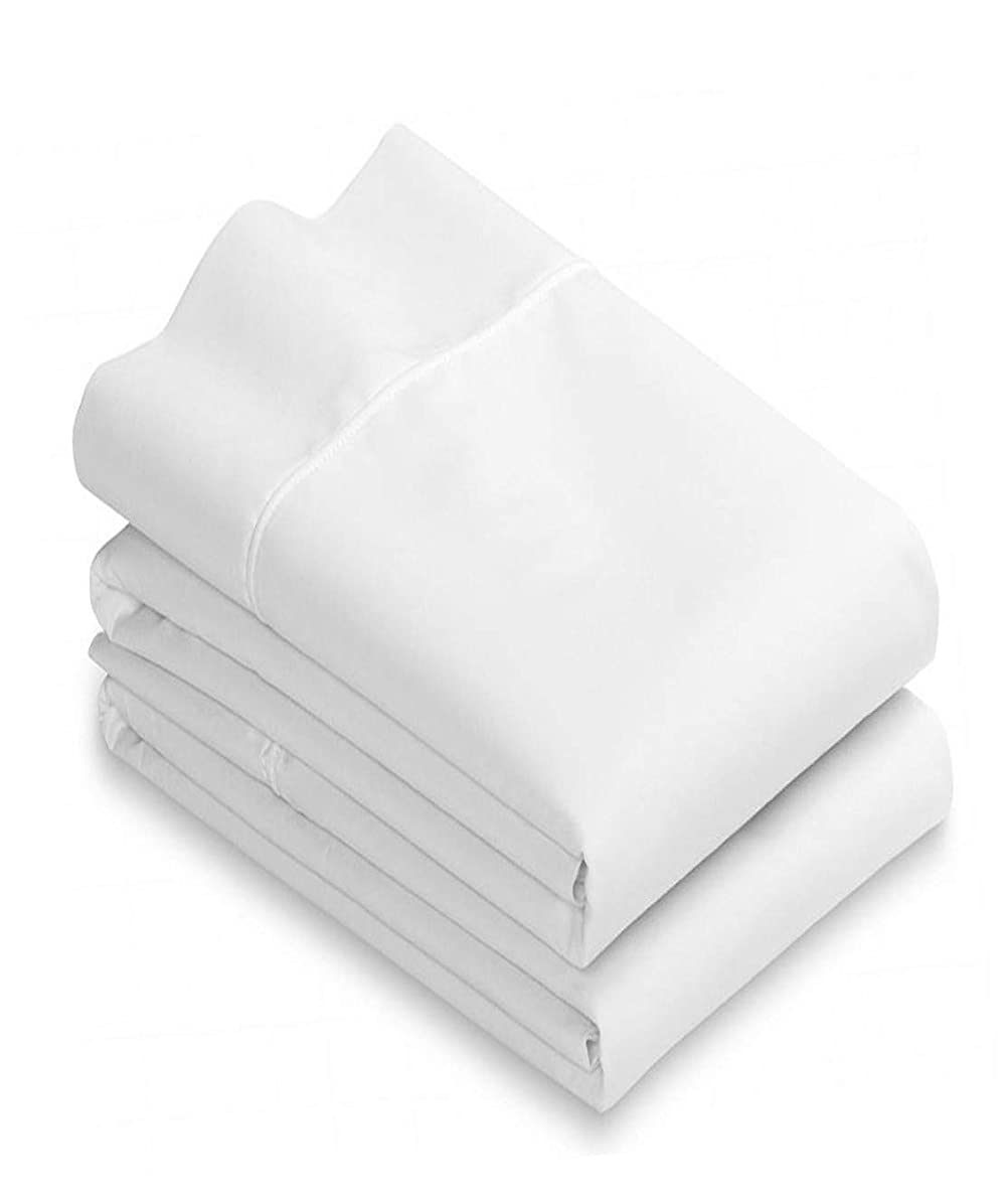White Cotton Standard Pillowcases Set of 2-200TC Heavy Weight Quality, Elegant Double Stitched Tailoring, Reduces Allergies and Respiratory Irritation uhcykhk83