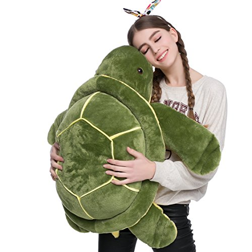 DOLDOA Big Plush Eyes Sea Turtle Stuffed Animal Tortoise Toys for Children Girlfriend (33 inch)