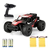 Remtoe Control Car Kids Toys - Free to Fly 2019 Newest High Speed RC Cars 2.4Ghz 1/16 Off Road RC Trucks with Tow Rechargeable Batteries Toys for Adults & Kids Age 8+ Year Old(Red)