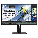 ASUS PA329Q 32'' Monitor Professionale, 4K (3840 x 2160), IPS, Quantum Dot, 99.5% Adobe RGB, E 2, Flicker Free, Filtro Luce Blu, Certificazione TUV