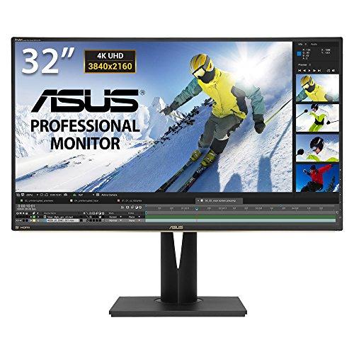 ASUS PA329Q 32'' Monitor Professionale, 4K (3840 x 2160), IPS, Quantum Dot, 99.5% Adobe RGB, △E< 2, Flicker Free, Filtro Luce Blu, Certificazione TUV