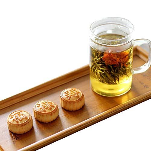 スイーツ ギフト 工芸茶 と ミニ月餅 3種 茶こし付きマグカップ付き 吉祥事セット お茶&茶器セット 誕生日