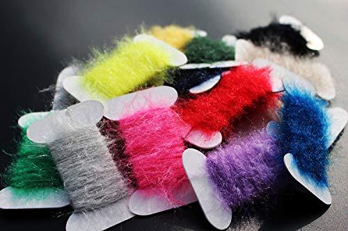Tigofly 17 Farben insgesamt 170 m Ice Dub Dubbing Faden Schnur Chenille Sparkle Garn Nymphe Bugs Scud Fliegen Body Fliegenbinden Materialien