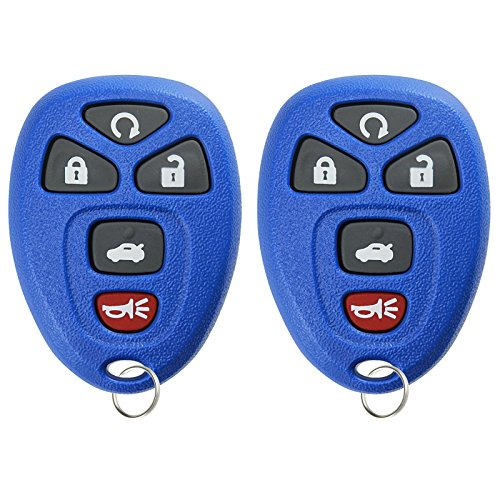 KeylessOption Keyless Entry Remote Start Control Car Key Fob Replacement for 22733524-Blue (Pack of 2)