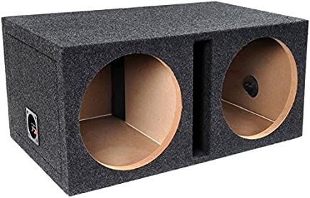 "$65 Get Bbox E12DSV Dual 12"" Shared Vented Carpeted Subwoofer Enclosure"