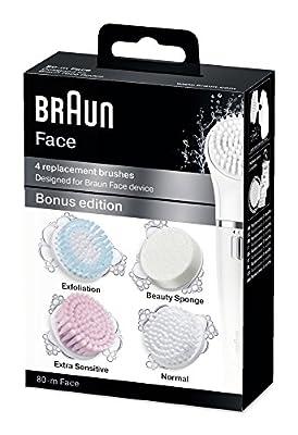 Braun SE80 Silk Epil Face Extra Multi-Pack Refills - Pack of 4