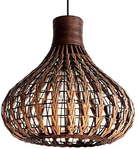 Bamboe Kroonluchter Retro Light Fixtures Plafond Lamp Boerderij Hanger Licht, Wicker Rotan Shades Weave Lamp Lantaarn Rieten Licht Fixtures Kroonluchter Dingende Kamer