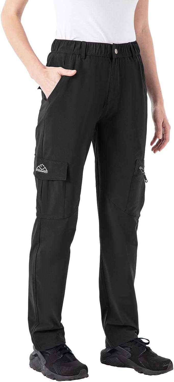 donhobo Pantalones de senderismo para mujer impermeables resistentes al viento funcionales trekking para verano para camping de secado r/ápido