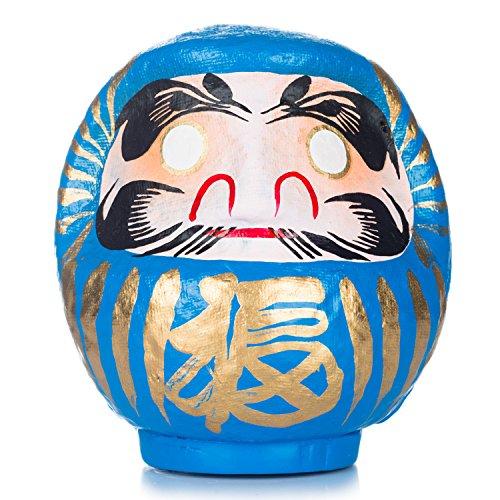 Blaue japanische Daruma-Puppe, Glücksgott
