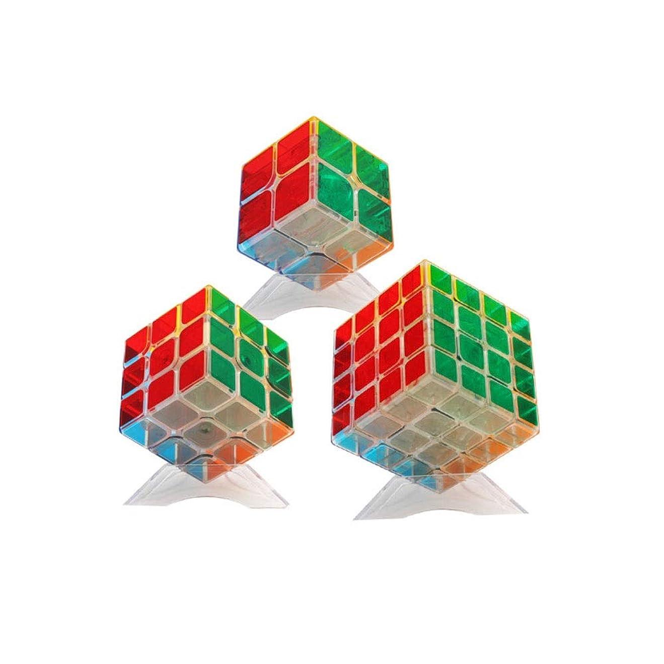 メロドラマティック研磨剤二週間ルービックキューブ、透明ABS素材で作られたルービックキューブ、指を柔軟にし、使いやすくする(2次から4次) (Edition : Second order~fourth order)