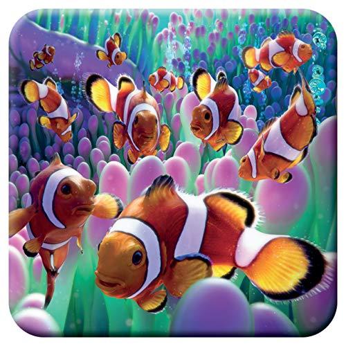 3D LiveLife Kork Matte - Clown Fisch von Deluxebase. Linsenförmige-3D-Kork Ozean Untersetzer. rutschfeste Getränkematte mit Originalkunstwerk lizenziert vom bekannt Künstler David Penfound