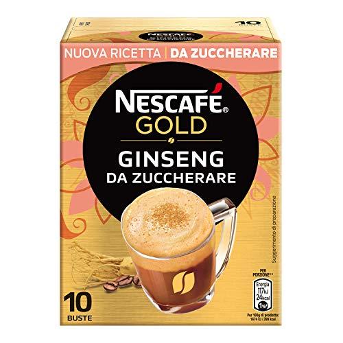 Nescafé Gold Preparato Solubile per Caffè al Ginseng, 10 Bustine