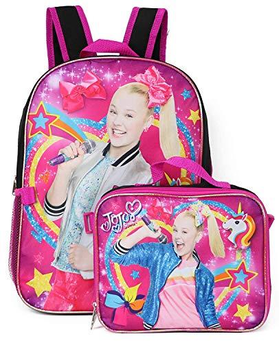 JoJo Siwa Girls School Backpack Book Bag Lunch Box SET