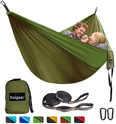 Unigear Camping Hammock 320 x 200cm for 2 Person, Portable Lightweight Parachute Nylon Double Hammock with Straps for Backpacking, Camping, Travel, Beach, Garden