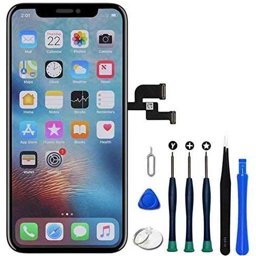 Hoonyer Display für iPhone X LCD 3D Touch Digital Bildschirm Rahmen Glasbildschirm Demontage Kit Transformation Komplette Ersatzwerkzeuge enthalten
