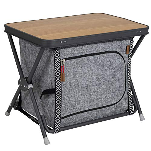 Alu Faltschrank Stoffschrank Campingküche Campingschrank Camping Zubehör Möbel Küchenschrank Outdoor Küche Schrank Faltbar Zeltschrank Reiseküche Grau Vorzelt Regal Modern Aluminium Aufbewahrung