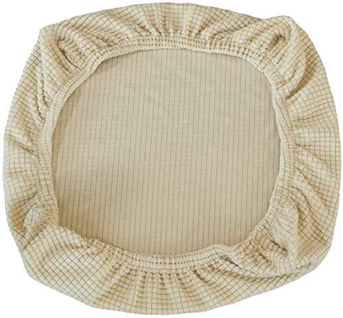 Yikko Fundas de asiento elásticas de spandex, lavables, para sillas de oficina, sillas de comedor, bar, decoración de bodas (beige)