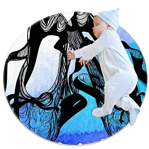XiangHeFu Round Area Rug,Doormats,Carpet,ballet shoes Non Slip for Bedroom,Living Room,Children's or book Room