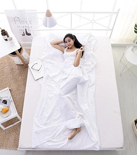 Sac de couchage en plein air doublure coton blanc tissu portable ultra-léger unique / double sacs de couchage camping sac de couchage de nouveaux kits de voyage , 180x210cm