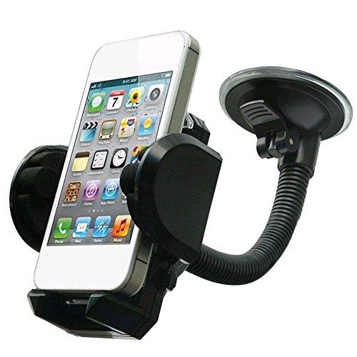 Enjoyall Support pour téléphone de Voiture, Car Support Universel pour téléphone Portable 3-en-1 pour Pare-Brise, Tableau de Bord, Prise d'air - Support pour téléphone Portable Rotatif à 360 °
