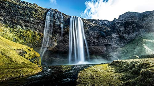 nonbranded Regalo de Rompecabezas de 1000 Piezas Cascada Islandia