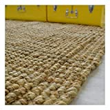 Decoweb Tapis Naturel Bohème 100% Jute - Naturel (120 x 170 cm)