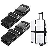 Luxebell da viaggio cinghie bagagli imballaggio cintura valigia cinghie regolabile sicurez...