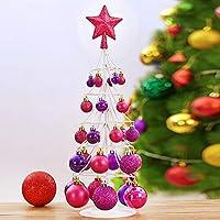 クリスマスボール クリスマスつまらないクリスマスボール飾り飛散防止クリスマスデコレーションツリーボールホリデーウェディングパーティーデコレーション、ツリーオーナメントプレミアム品質54x16cm