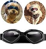 PetBoBo Pet Waterproof Windproof Anti-Fog Eye Protection Goggles, Stylish Pet Dog UV Goggles Sunglasses Waterproof Protection Sun Glasses for Dog Black