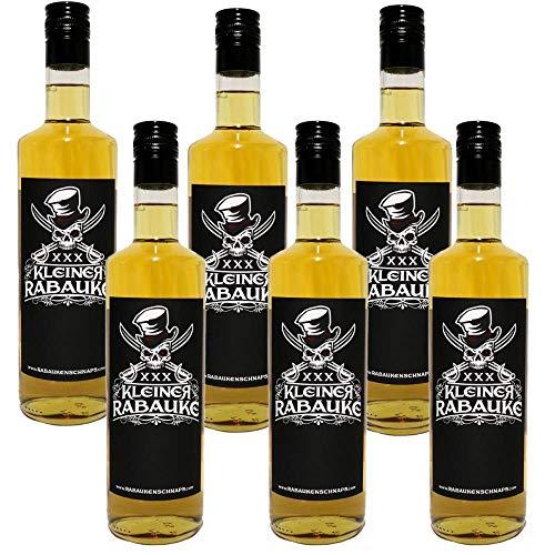 Kleiner Rabauke Flaschen Premium Schnaps | Likör 6 x 0,7l Alkohol | verfeinert mit Jamaica Rum | Made in Germany | Perfekt als Geschenk und für Longdrinks und Cocktails