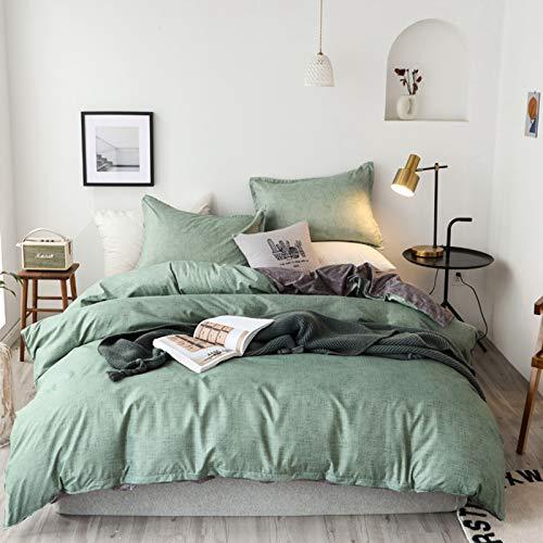 Home Juego de ropa de cama de 3 piezas, funda nórdica de 100% microfibra suave y agradable, con cremallera (A,135 x 200 cm)