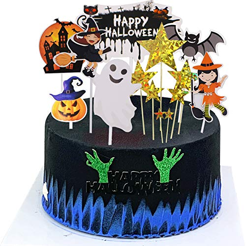 BESLIME Topper Cupcake - Topper Torta a Tema Animale Decorazione per la Decorazione di Halloween, Topper Cupcake - Cake Decoration Themed Animal Cake Topper Topper for Home Decoration,14pcs