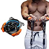 LARA STAR Resistance Band Handles Grips Fitness Strap Heavy Duty Cable Handles Training Grip Strength Sling Trainer for Pull-up Bars Barbells and Pulling Machines (1 Set) …