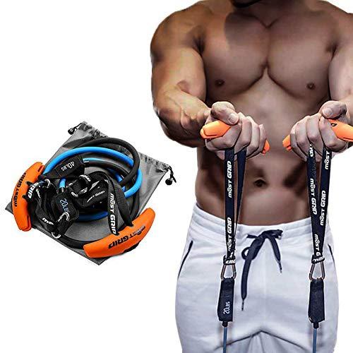 Trainingsgriff für Klimmzugstangen, Langhanteln und Rückentrainings-Geräte mit 2 Widerstandsbändern für Krafttraining, hochziehen,Gewichtheben Innenaktivitäten